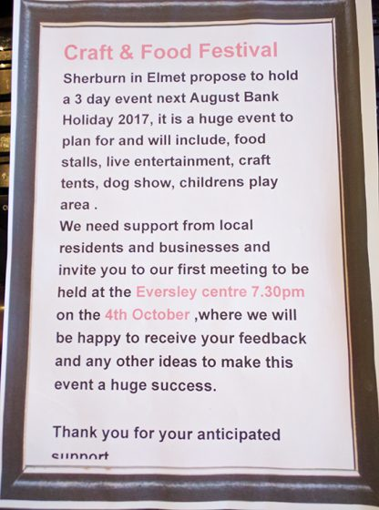 Sherburn Needs You!