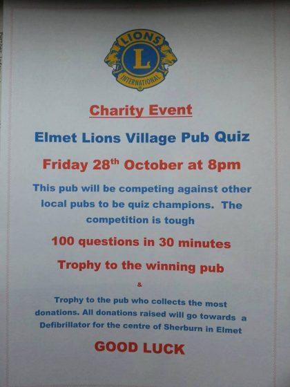 Elmet Lions Pub Quiz