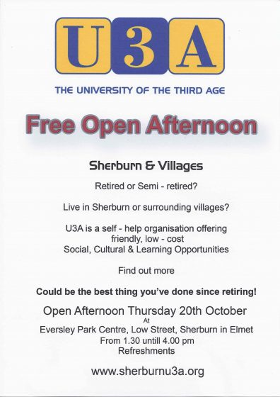 U3A Open Afternoon