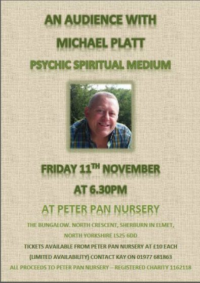 Peter Pan Nursery Psychic Night