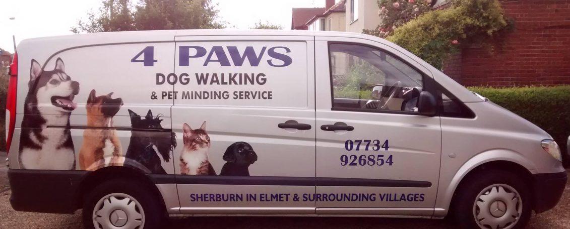 4 paws dog walking service sherburn