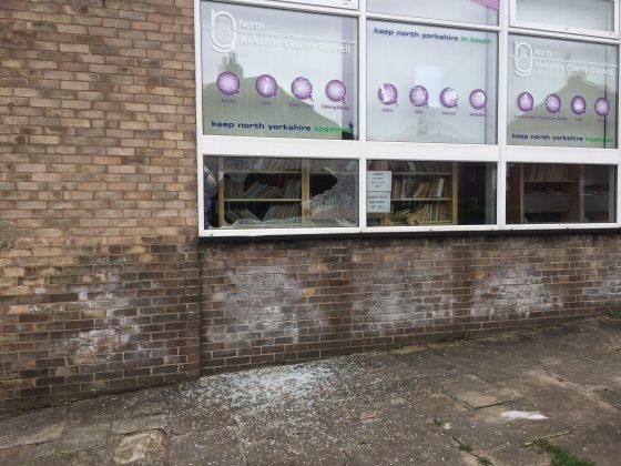 Vandalism at Sherburn Library
