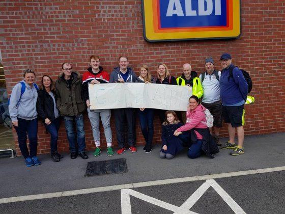 Aldi's Teenage Cancer Trust Sponsored Walk