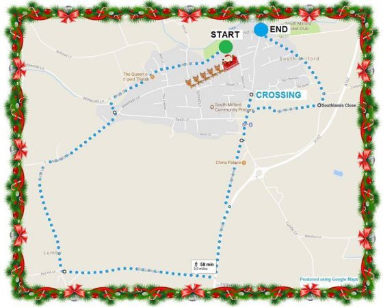 south milford santa dash route 1