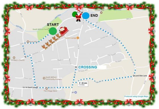 south milford santa dash route 2