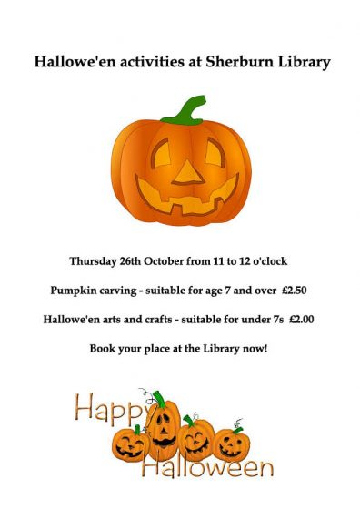 Halloween Activities at Sherburn Library