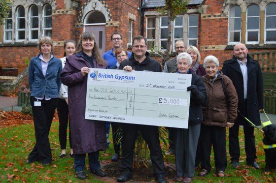 British Gypsum Donates £5,000 to the Old Girls' School