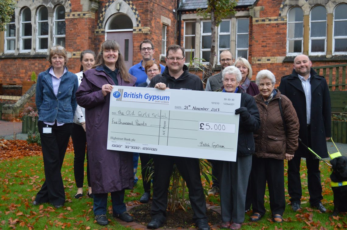 british gypsum donate 5000 to old girls' school