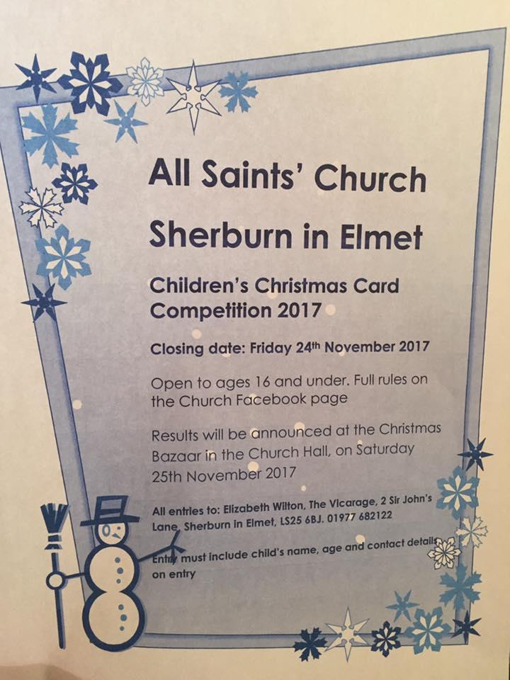 all saints chirstmas card comp