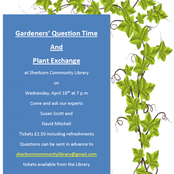 Gardeners' Question Time and Plant Exchange