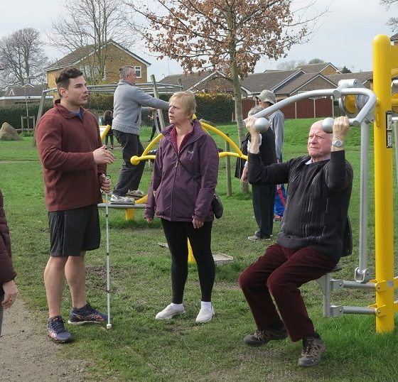 Move It Lose It at Sherburn Outdoor Gym.