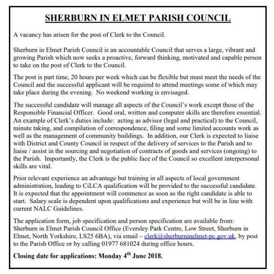Job Vacancy at Parish Council