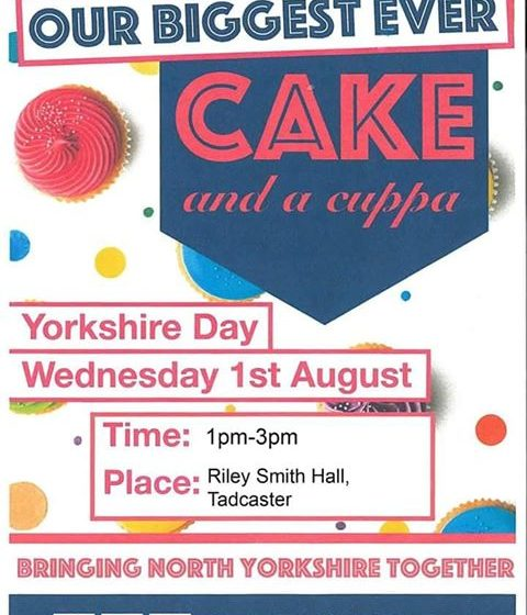 Yorkshire Day- Biggest ever Cake and a Cuppa