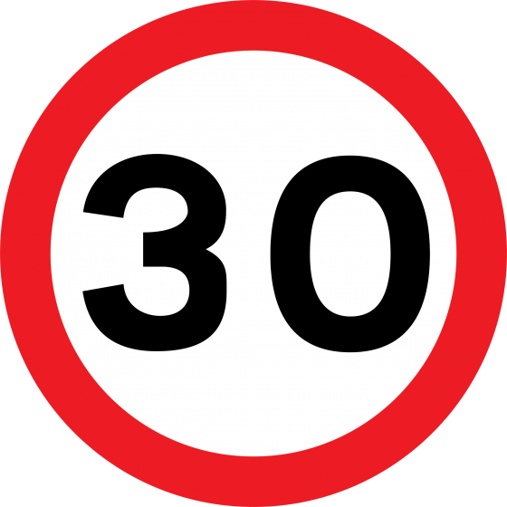 Lowered Speed Limit in Barkston Ash