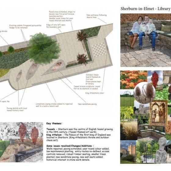 Sherburn Library Garden Pocket Park