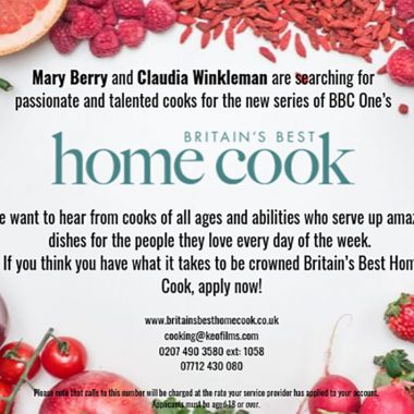 Have you got what it takes to be Britain's Best Home Cook?