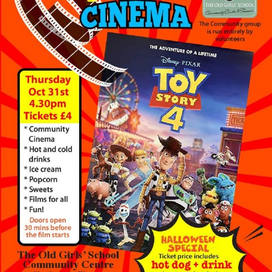 Halloween Special at Sherburn Community Cinema – Toy story 4