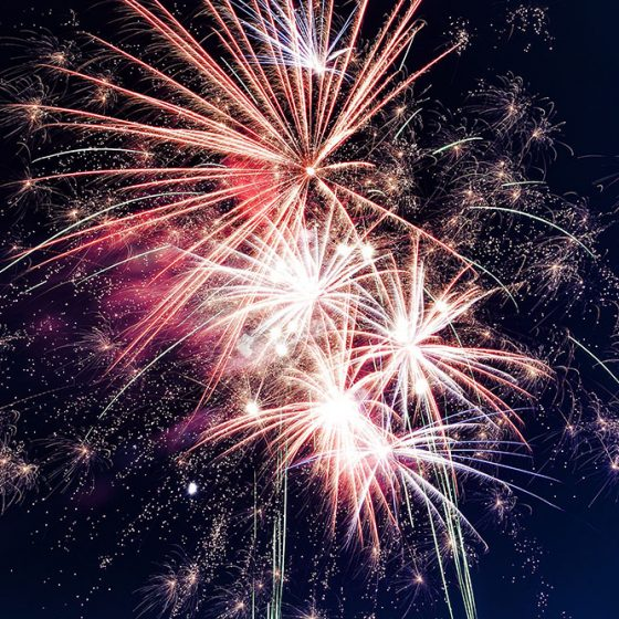 Firework Display At Squires