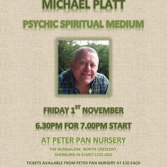 Psychic Evening at Peter Pan Nursery