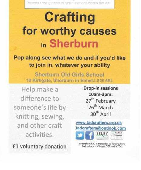 Crafting For Worthy Causes in Sherburn – 26th March