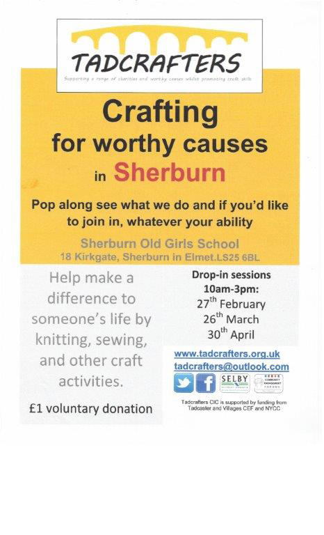 Crafting For Worthy Causes in Sherburn - 27th February