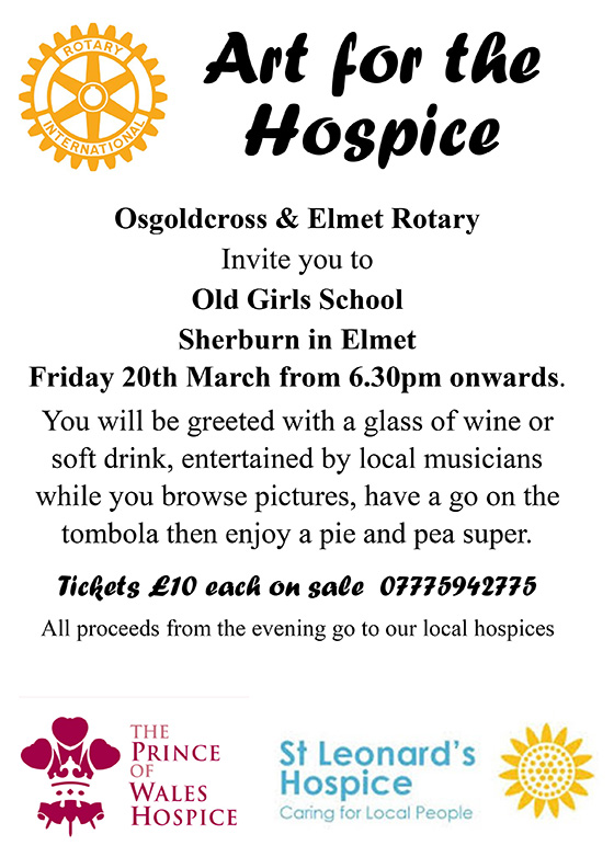 Rotary Club host Art for The Hospice *EVENT CANCELLED*