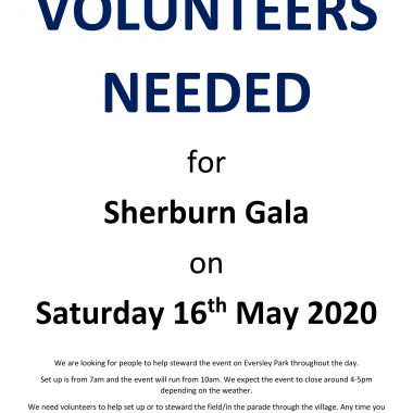 Volunteers Needed For Sherburn Gala - *Event Cancelled*