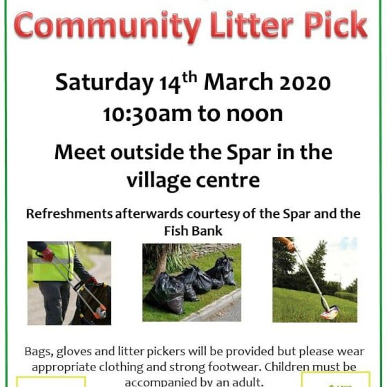 Community Litter Pick – 14th March