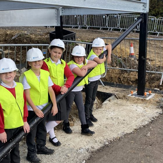 Pupils leave lasting legacy as new school extension progresses