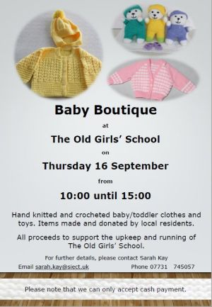 Baby Boutique at The Old Girls' School
