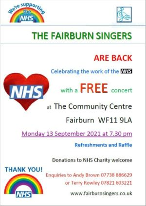 The Fairburn Singers Free Concert In Support Of The NHS