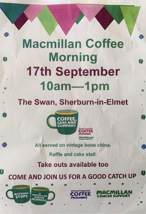 The Swan's Macmillan Coffee Morning