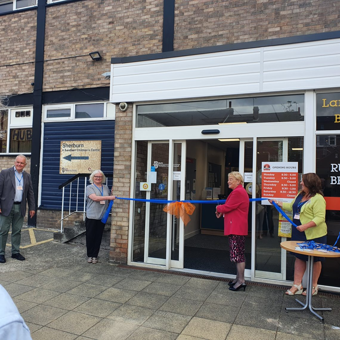 Sherburn & Villages Community Library is officially Re-opened