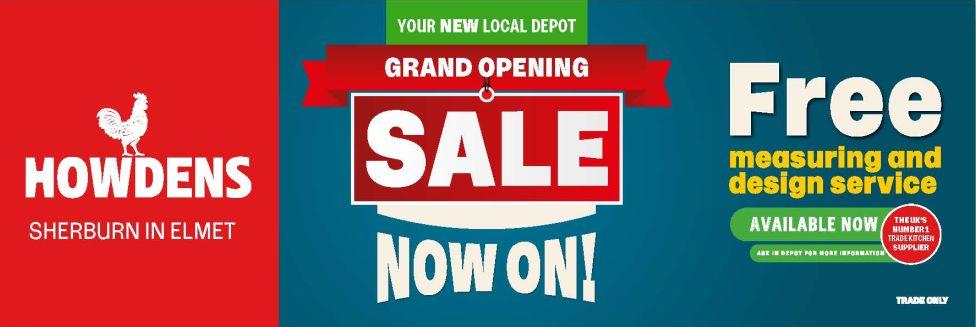 New Howdens Depot Open in Sherburn
